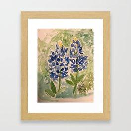 Jeanette's Texas Bluebonnets Framed Art Print