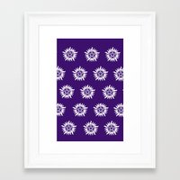 pentagram Framed Art Prints featuring Pentagram by Fandom GoodieZ
