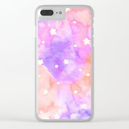 Starry Sky Raspberry Milkshake Clear iPhone Case