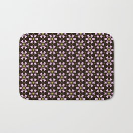 Brown and Pink Geo Flower Bath Mat