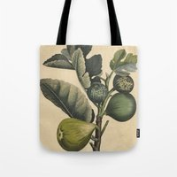 fig Tote Bags featuring Fig by Connie Goldman