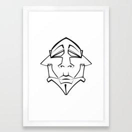 Three Face Framed Art Print