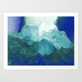 Celestite Abstract Art Print