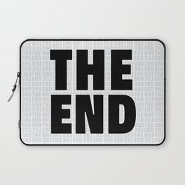 The End Black Laptop Sleeve