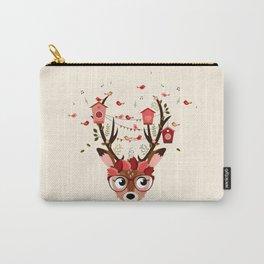 Biche et cabanes à oiseaux (rose) Carry-All Pouch