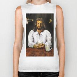Coffee With Jesus Biker Tank