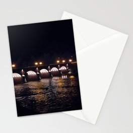 Bridge in the night Stationery Cards