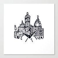 broad city Canvas Prints featuring broad broad city bitch. by King Lark