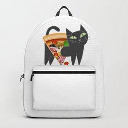 Cat loves pizza Backpack