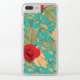 Rose with Dandelion Clear iPhone Case