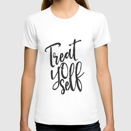Treat Yo Self,Printable Art,Motivational Poster,Inspirational Quote,Quote Prints,Typography Print T-shirt