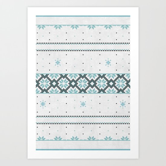 Christmas pattern Art Print