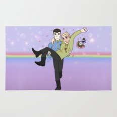 New Frontiers - Kirk and Spock Rug