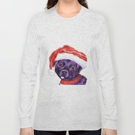 Christmas Chihuahua By Annie Zeno Long Sleeve T-shirt