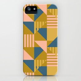 Abstract Geometric - Gold iPhone Case