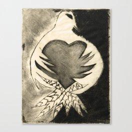 White Dove Art - Comfort - By Sharon Cummings Canvas Print