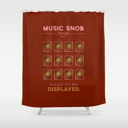 Made to be Displayed — Music Snob Tip #33⅓ B Shower Curtain