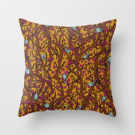 the singing forest Throw Pillow
