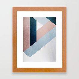 Complex Triangle Framed Art Print