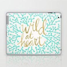 Wild at Heart – Turquoise & Gold Laptop & iPad Skin