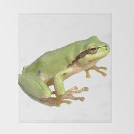 European Tree Frog Throw Blanket