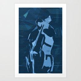 Jazz Contrabass Poster Art Print