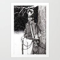 soldier Art Prints featuring Soldier by Thom Deer