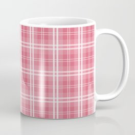 Faded and Shaded Nanucket Red and White Tartan Plaid Check Coffee Mug