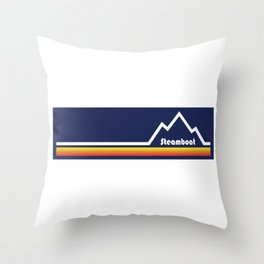 Steamboat Springs, Colorado Throw Pillow
