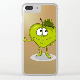 Happy apple Clear iPhone Case