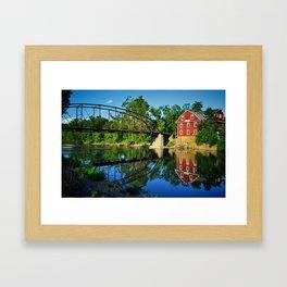 War Eagle Mill and Bridge Framed Art Print