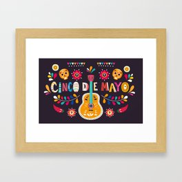 Cinco de Mayo – Guitar Framed Art Print
