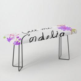 Call Me Cordelia - Purple Flowers Bench