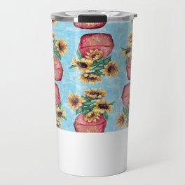 Sunflower Vase Travel Mug