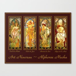 Vintage Art Nouveau - Alphonse Mucha Canvas Print