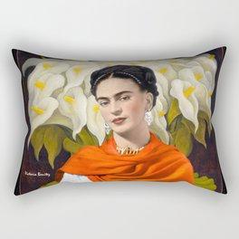 FERIDA KAHLO REBOZO NARANJA Rectangular Pillow