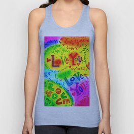 I LOVE YOU Painting Unisex Tank Top