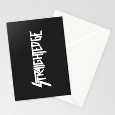 Straight Edge Metal Logo Stationery Cards
