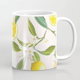 Traditional Lemon Print Coffee Mug