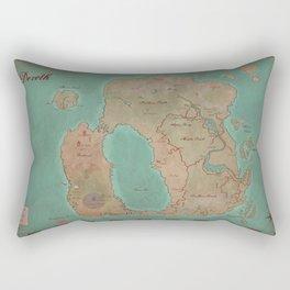 Map of Dereth //Asheron's Call Rectangular Pillow