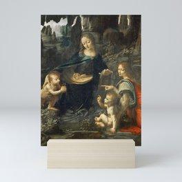 "Leonardo da Vinci ""The Virgin of the Rocks"" (Louvre) Mini Art Print"