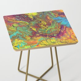 Acrylic Pouring #5 Side Table
