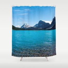Deep Blue Lake Photography Print Shower Curtain