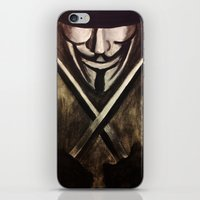 vendetta iPhone & iPod Skins featuring VENDETTA by The Traveling Catburys
