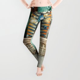 This Way For Awesome :: Fine Art Collage Leggings