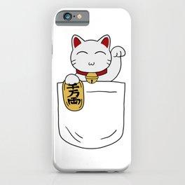 Maneki Neko Pocket iPhone Case