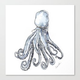 Octopus Watercolor Sketch Canvas Print