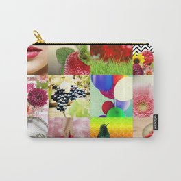 Colorful Girly Collage Carry-All Pouch