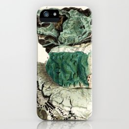 Vintage Mineralogy Illustration iPhone Case