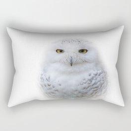 Dreamy Encounter with a Serene Snowy Owl Rectangular Pillow